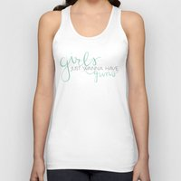 guns Tank Tops featuring Girls & Guns by Niki Addie Creative Design Co.
