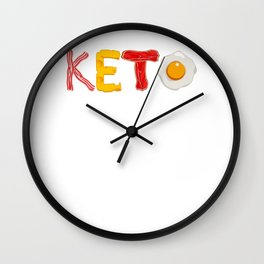 Keto Diet Ketosis graphic For Low Carb High Fat Ketogenic Diet Wall Clock