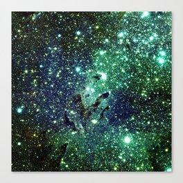 Green Eagle Nebula / Pillars of Creation Canvas Print