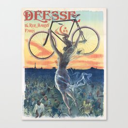 Vintage French Bicycle Poster 1898 Canvas Print