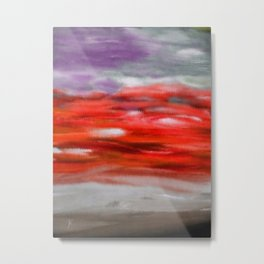 Serenity Abstract Landscape 3 Metal Print