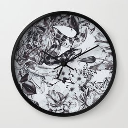 Snakes in bloom Wall Clock