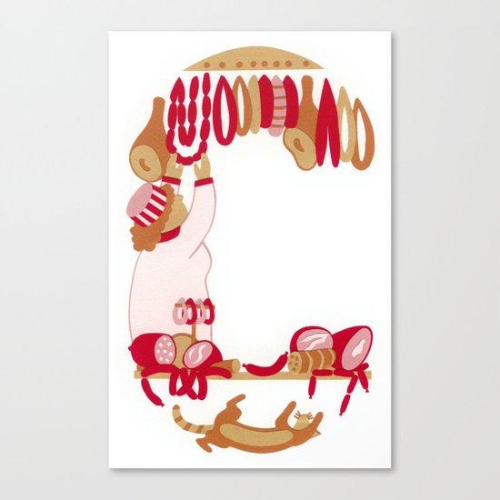 C as Charcutière (Pork butcher) Canvas Print
