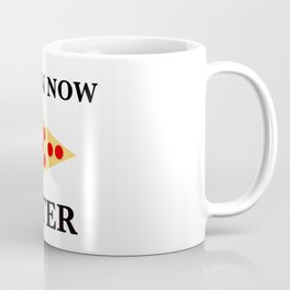 Train Now, Pizza Later (with Pizza Graphic) Coffee Mug