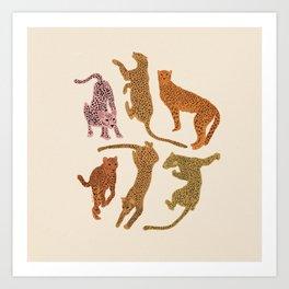 Adria Cheetahs Art Print