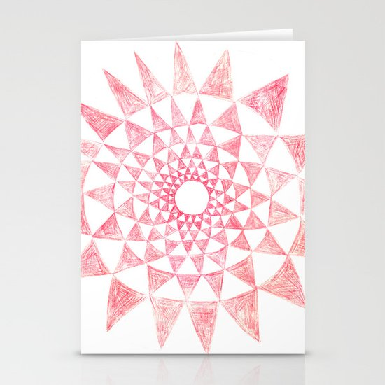 mandala:triangles Stationery Cards