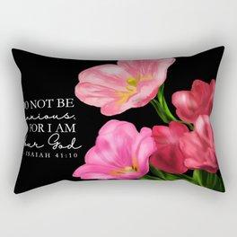 Don not be Anxious - floral  Rectangular Pillow