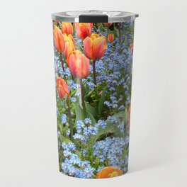 Tulips and Forget Me Nots Travel Mug