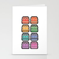 8bit Stationery Cards featuring 8bit burger by thev clothing