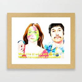 You&I with subtitles Framed Art Print