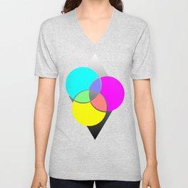 CMY Color Palette Crossover Unisex V-Neck