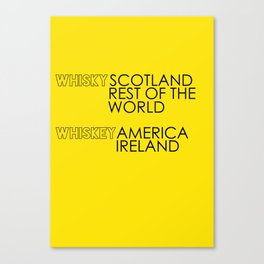 Whisky or Whiskey? Canvas Print