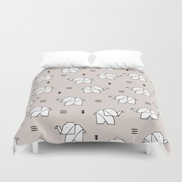 Origami elephant Duvet Cover