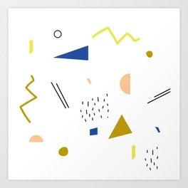 terrazzo confetti Art Print