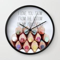 Pencil Case Wall Clock