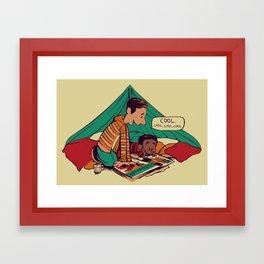 Troy & Abed's Dope Adventures Framed Art Print