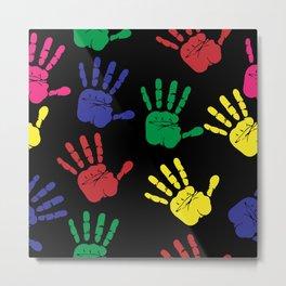 Hands impressions Metal Print