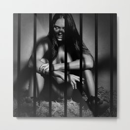 Photograph Nude Beauty in a Cage Metal Print