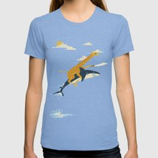 Onward! Womens Fitted Tee MEDIUM Tri-Blue