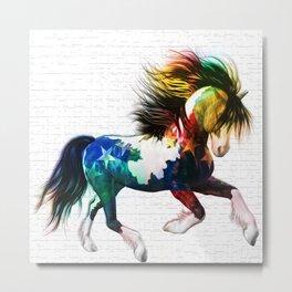LATAM HORSE Metal Print