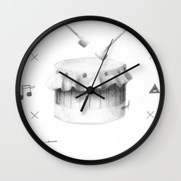 One Drum Wall Clock