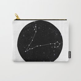 Pisces zodiac star sign constellation art black and white Carry-All Pouch