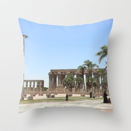 Temple of Luxor, no. 18 Throw Pillow