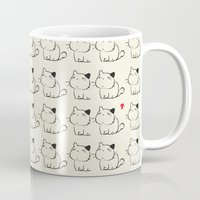 cats Mugs featuring cats by ururuty