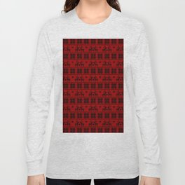 Antiallergenic Hand Knitted Red Winter Wool Pattern - Mix & Match with Simplicty of life Long Sleeve T-shirt