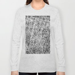 Web Of Confusion - Black and white, abstract painting Long Sleeve T-shirt