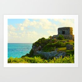 Temple of the Wind God in the Yucatan Art Print