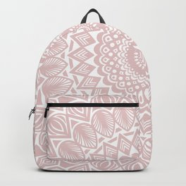 Light Rose Gold Mandala Minimal Minimalistic Backpack