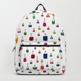 Coloured bottles pattern Backpack