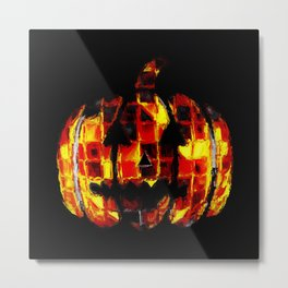 Jack-O'-Lantern Nightmare Metal Print