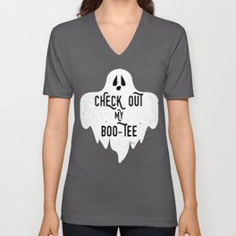 Halloween Quote Gift Check Out My Boo Tee Gift Unisex V-Neck