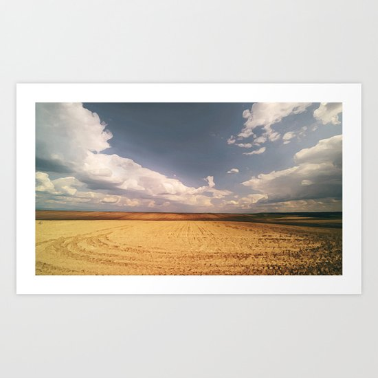 desert and clouds NI Art Print