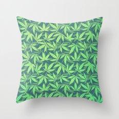 Cannabis / Hemp / 420 / Marijuana  - Pattern Throw Pillow