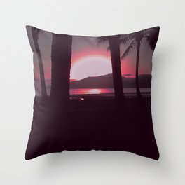 Cairns Sunrise in Red Throw Pillow