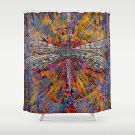 Mandala Dragon Shower Curtain
