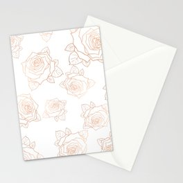 Metallic Roses Stationery Cards