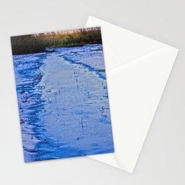 Feeling blue- last snow in meadow  Stationery Cards