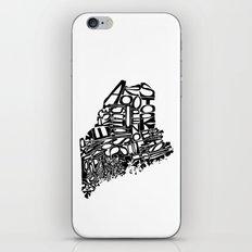 Typographic Maine iPhone Skin