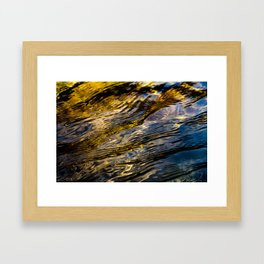 River Ripples in Copper Gold and Brown Framed Art Print