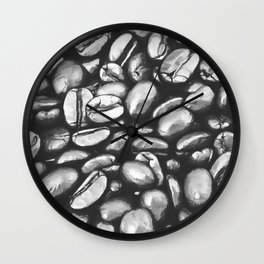 roasted coffee beans texture acrbw Wall Clock