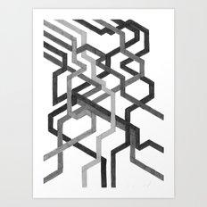 Black and White Metro Art Print
