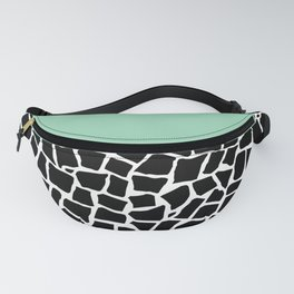 British Mosaic Mint Boarder Fanny Pack