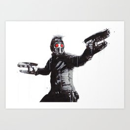 Star-Lord (Peter Quill) Guardians Graffiti Pop Urban Street Art Art Print