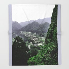 The Valley (Japan) Throw Blanket