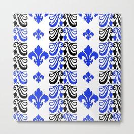 Fluer de Lis Custom Blue Metal Print