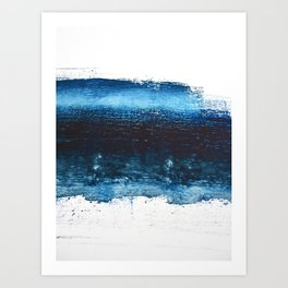 Lake Michigan: a pretty, minimal abstract piece in icy blues by Alyssa Hamilton Art Art Print